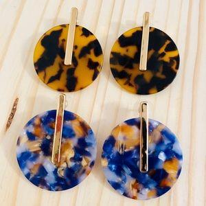 ✨2-Pack! Baublebar Earrings, Turtle/Blue
